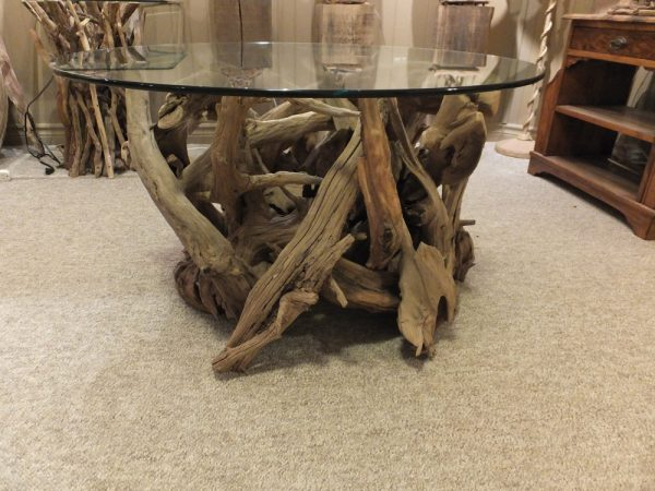 Table hand crafted with driftwood
