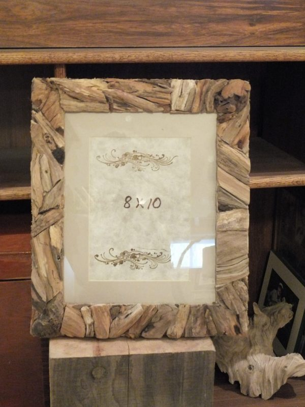 Hand crafted picture Frame 8 x 10 made with driftwood in Ottawa Ontario